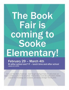 The Book Fair is coming to Sooke Elementary