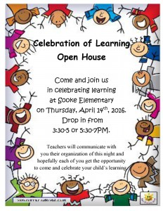 Celebration of Learning open house poster april 2016 no interview
